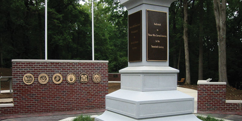 Guilford County Veterans Memorial Brass Panels